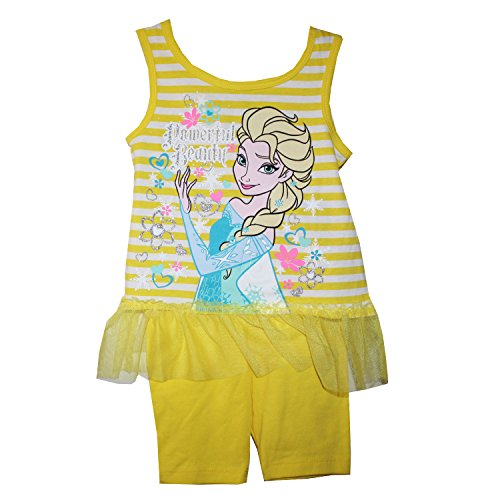 Disney Frozen Elsa Tank Top Tunic and Shorts Outfit Set Little Girls' 4T