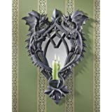 Design Toscano Double Trouble Gothic Dragon Mirrored Halloween Wall Sculpture