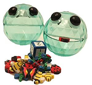 Munchy Ball Game with Two Vinyl Balls, Bugs, and Dice by TMC Adaptations