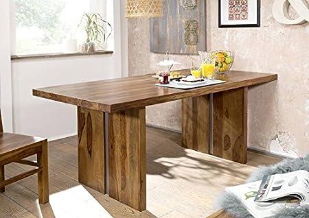 Table à manger 160x90cm - Bois massif de palissandre laqué - SHIELD #110
