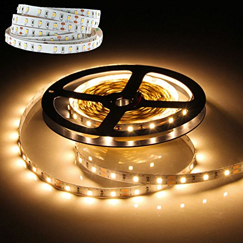 5M 16.4Ft 500Cm 2835 300 Led Smd Warm White Light Strip Lamp Dc 12V