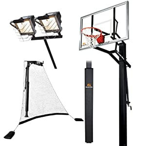 Goalrilla GLR GSII 60 Basketball System with Pole Pad,Ball Return Net and Deluxe Hoop... by Goalrilla