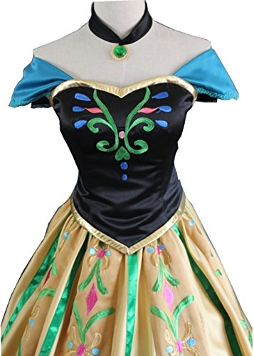 Women's Coronation Gown Deluxe Cosplay Dress Embroidered Costume Adult Girls