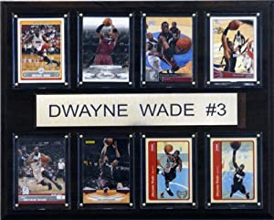 NBA Dwyane Wade Miami Heat 8 Card Plaque by C&I Collectables