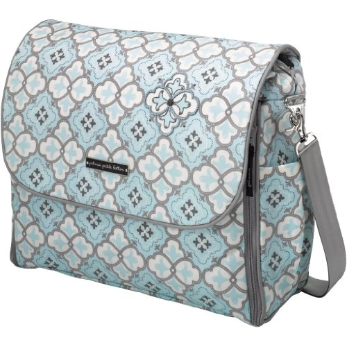 Petunia Pickle Bottom Abundance Boxy Backpack, Classically Crete/Blue