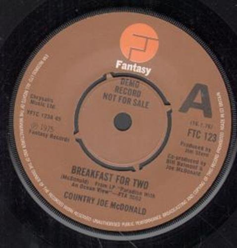 "Breakfast For Two 7 Inch (7"" Vinyl 45) Uk Fantasy 1975"