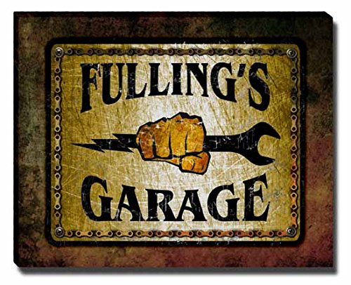 Fulling's Garage Stretched Canvas Print (Fulling compare prices)