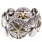 Two Tone Starfish Stretch Bracelet