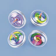 Fun Express Plastic Swirl Spin Tops (…