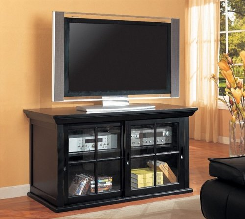 Cheap Black Entertainment Console Table Plasma LCD TV Stand (VF_AZ00-10860×30035)