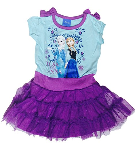 Disney Frozen Infant Toddler Girls' Cap Sleeve Elsa & Anna Dress