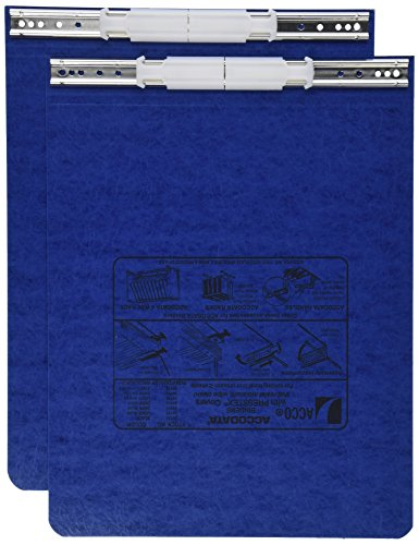 ACCO PRESSTEX Covers w/ Hooks, Unburst, 9 1/2 x 11 Sheets, Dark Blue (54113)