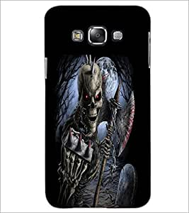 Printdhaba Double Skeleton D-2385 Back Case Cover For Samsung Galaxy A7