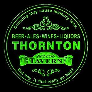 4x ccpx2263-g THORNTON Tavern Room Bar Beer 3D Drink Coasters