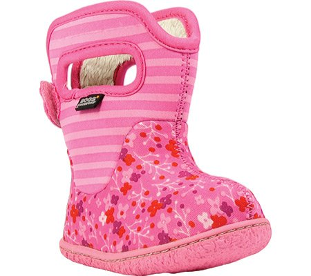 Bogs Baby Classic Flower Stripe Waterproof Insulated Rain Boot, (Toddler), Bubble Gum Pink, 5 M US Toddler (Pink Insulated Boots compare prices)