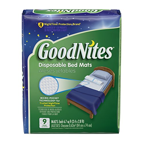 GoodNites Disposable Bed Mats, 9 Count (Kids Bed Liners compare prices)