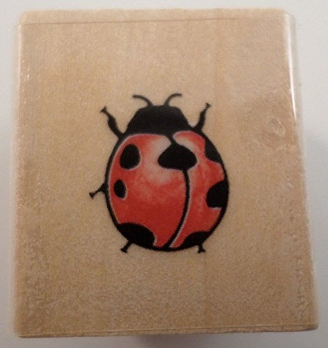 Lady Bug Insect Rubber Stampede Wooden Rubber Stamp #A273Aa