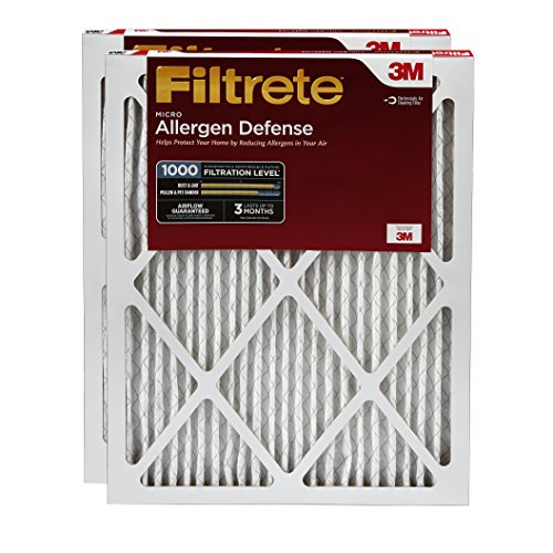 Filtrete Micro Allergen Defense Filter, MPR 1000, 20 x 24 x 1-Inches, 2-Pack (Filtrete 20x24x1 Air Filter compare prices)