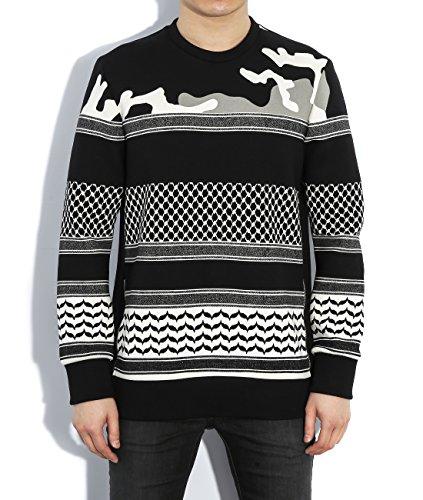 wiberlux-neil-barrett-mens-mixed-pattern-sweatshirt-s-black