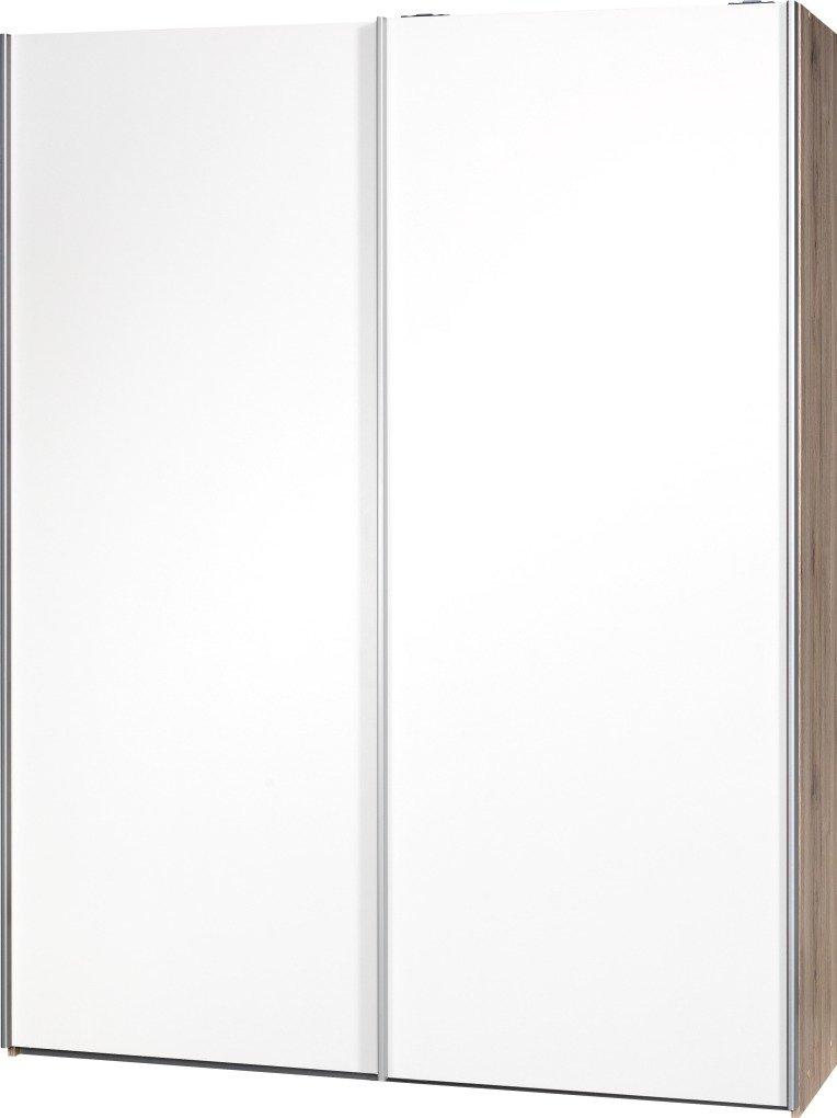 Schwebetürenschrank Soft Plus Smart Typ 41″, 150 x 194 x 42cm, Sanremo hell/2 x Weiß