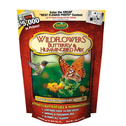 Encap 10810-6 Wildflowers Butterfly and Hummingbird Mix, 2 Pounds, 200-Square Feet Cover