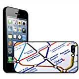 Close Up Tube Map Leicester Square, London Hard Case Clip On Back Cover For Apple iPhone 5