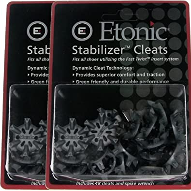 36 NEW ETONIC GOLF SPIKES CLEATS + FREE WRENCH (2 PKG) by Etonic