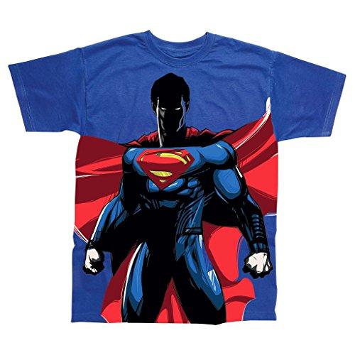 Oficial-de-hombres-de-Superman-permanente-todo-impresin-camiseta-Retro-tebeos-de-la-CC