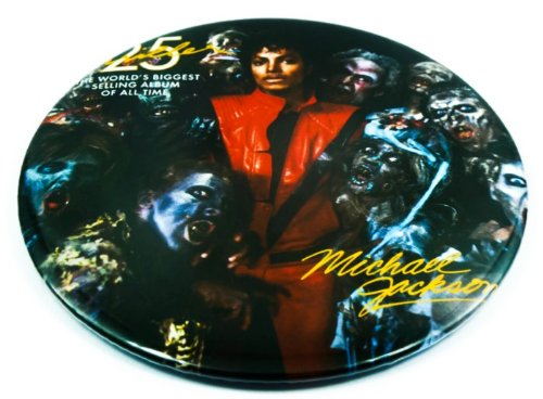 "Michael Jackson (14) Awesome 3-In-1 Features Jumbo 3.75"" Pin Stand Button Badge"