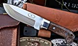 CFK Cutlery Company USA Custom Handmade D2 Tool Steel 59HRC Medium HUNTERS-COMPANION VII Back Bone Bushraft Hunting Skinning EDC Knife with Leather Sheath & Fire Starter Rod Set Cfk110