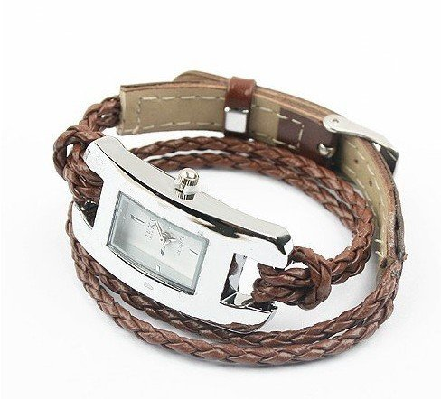 Fashion Leather Rope Watch Strap Woman/girl's -Brown- Brand NEW ITEM