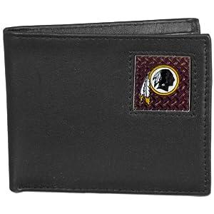 NFL Washington Redskins Gridiron Leather Bi-Fold Wallet by Siskiyou Sports