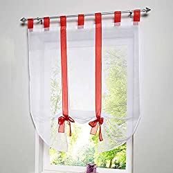 New Modern Tulle Curtains for Living Room Window Screening Voile Sheer Curtains for Living Room Bedroom Kids Curtains 2016 L35 Red S