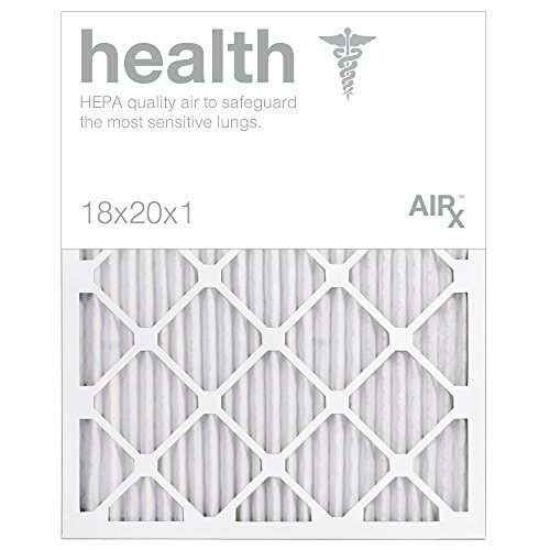 AiRx HEALTH 18x20x1 Air Filters - Optimal for Health Protection - Box of 6 - Pleated 18x20x1 MERV 11 Air Filters, AC Filters, Furnace Filter - Energy Efficient