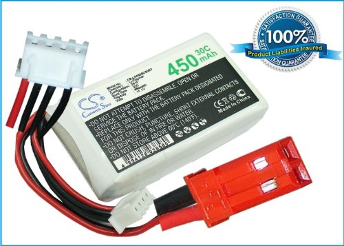 11.1V 450mAh 30C RC Battery For Airplane, Helicopter, Racing Car, Scale Boat