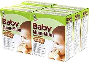 Hot-Kid Baby Mum-Mum Vegetable Flavor Rice Biscuit, 24-pieces, 1.76oz. (Pack of 6)