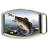 Jumping Big Mouth Bass Fish Kids Belt Buckle