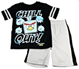 Angry Birds Boys 2-7 Black Chill Out Tee and Short Set
