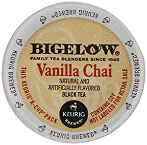 Bigelow Vanilla Chai Tea, Keurig K-Cups, 72 Count