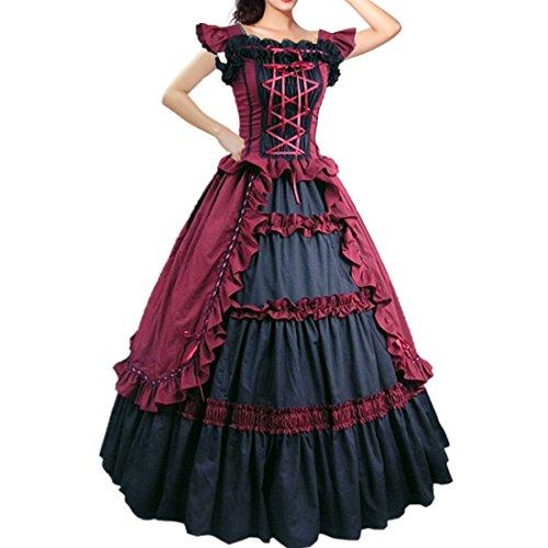 Shortsleeve Ruffles Masquerade Gown