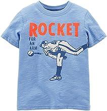 Carters Little Boys Rocket Arm T-Shirt 6 Blue