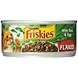 Friskies Cat Food Flaked with Tuna & Egg in Sauce, 5.5-Ounce Cans (Pack of 24) ~ Purina Friskies