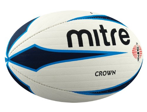 MITRE Crown Match Rugby Ball, White, 5