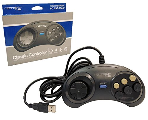 Retro Link Sega Genesis Classic USB Controller for PC and Mac