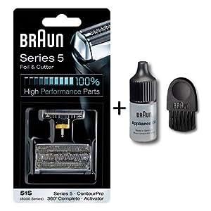 braun kombi 51s combipack grille lame de rasoir avec une brosse de nettoyage et huile. Black Bedroom Furniture Sets. Home Design Ideas