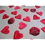 100 rote Herz-Blätter + 3x `Ich liebe Dich` Rosenblätter Valentinstag Candlelight Diner von MyRose.de