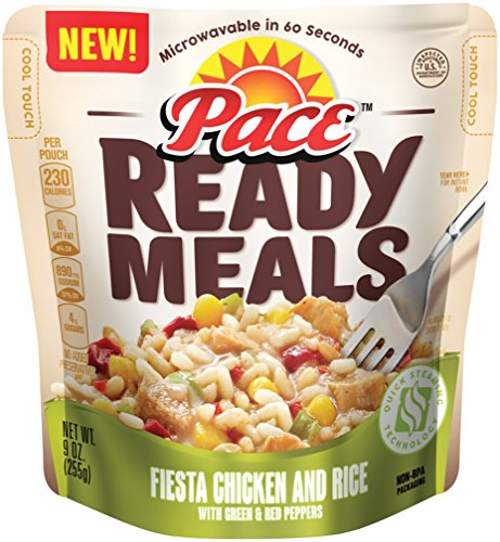 Pace Ready Meals, Fiesta Chicken and Rice with Green & Red Peppers, 9 Ounce (Pack of 6) (Packaged Meals compare prices)