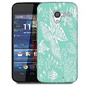 Snoogg White Butterfly Designer Protective Phone Back Case Cover For Moto X / Motorola X
