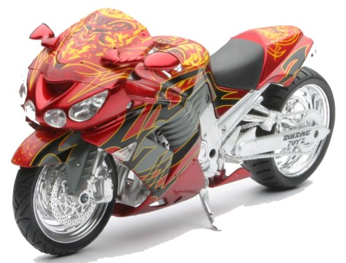 Kawasaki Motorcycle Ninja ZX-14 Red-Rust 1:12