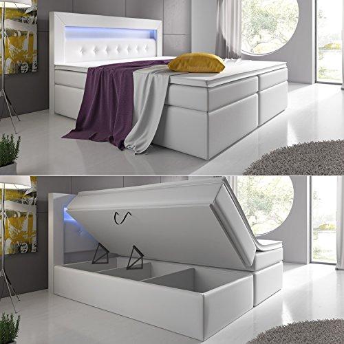test boxspringbett 180x200 grau doppelbett hotelbett cosmo ... - Kingsize Bett Im Schlafzimmer Vergleich Zum Doppelbett